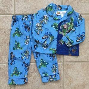 Disney Toy Story Woody Buzz Rex Pajamas